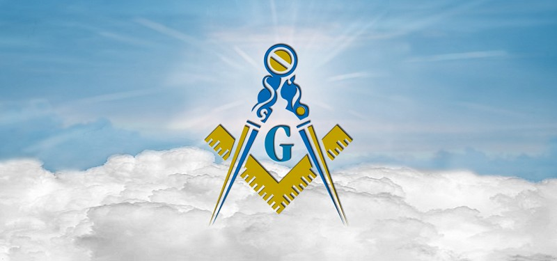 HP-AG-370-BL Masonic Lodge Clouds Blue